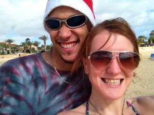 Miles and Sarah in Feutaventura