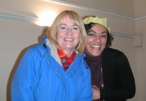 Cheryl and Eileen at festive last ACIM meeting