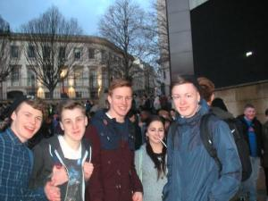 Young people in Victoria Sq