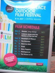 Brindley Place Outdoor Film Festival listings