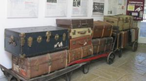 Luggage as it used to be on Carnforth Station
