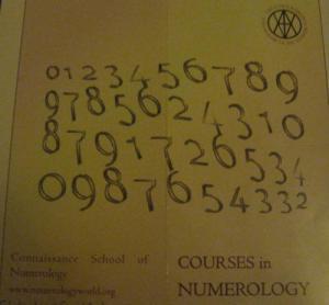 Connaissance School of Numerology course brochure