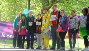 Participants in fund raising event