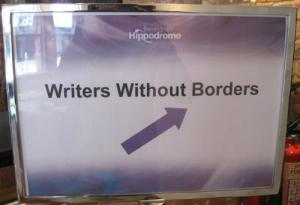 Writers Without Borders sign